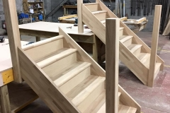 Oak straight flight staircases