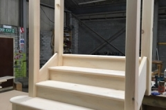 Pine stairs with veneered mdf