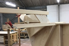 Top and bottom winder stair in pine